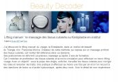 Découvrez un bel article sur l'institut à la une du Blog Beauty Decoder